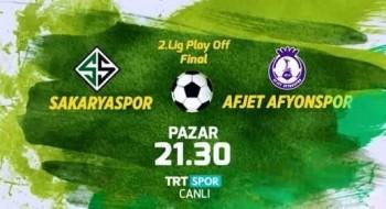 Sakaryaspor – Afjet Afyonspor Maçı Saat 21:30'da TRTSpor'da