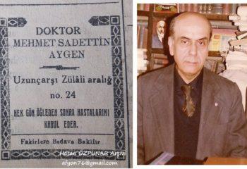 """""""Pepe Doktor"""" diye tanınan Fakir Babası Dr. M. Saadettin Aygen"""