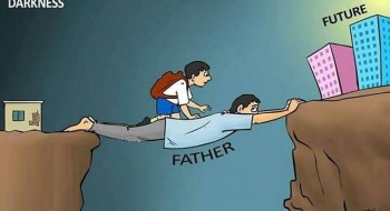 Heart Touching Caricature About Father