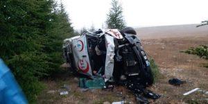 Afyon 112 ekibi kaza yaptı