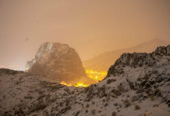 Afyon'dan Anlık Kar Görüntüleri