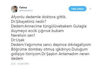 Twitter'da Afyon hakkında ibretlik tespitler yapan Fatma Hanım :)