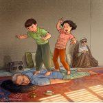 Bizi Çocukluğumuza Götüren Çizimleriyle Ali Miri Art