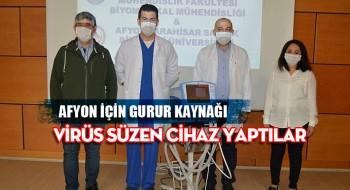 Afyonkarahisar'da 4 bilim insanı, yoğun bakımda virüsü süzen bir cihaz geliştirdi
