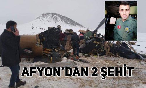 Bitlis'teki Helikopter Kazasında Afyonlu 2 Askerimiz Şehit Oldu